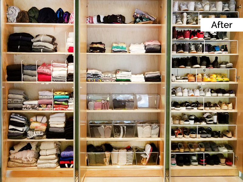 Organized by Ellis - Closet After