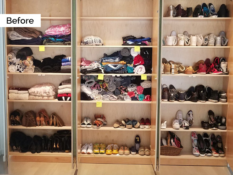 Organized by Ellis - Closet Before