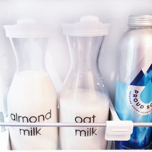 Organized refrigerator milk