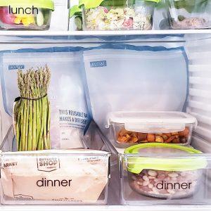 Organized refrigerator dinner