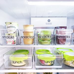 Organized refrigerator snacks